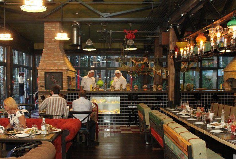 Ресторан-барбекю сборное барбекю из жаропрочного бетона
