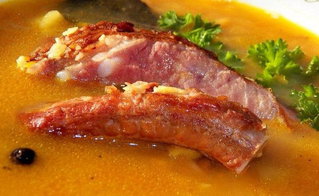 Гороховый суп ребрами рецепт фото